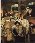 Jews Praying on Kol Nidre -- Gottlieb